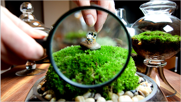 Mini Painter in Terrarium